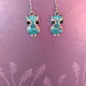 Girls owl earrings
